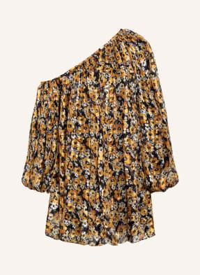 SAINT LAURENT Off-Shoulder-Kleid aus Seide