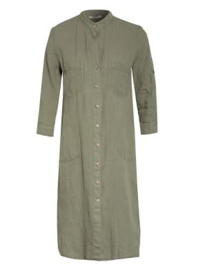 lilienfels Hemdblusenkleid aus Leinen mit 3/4-Arm