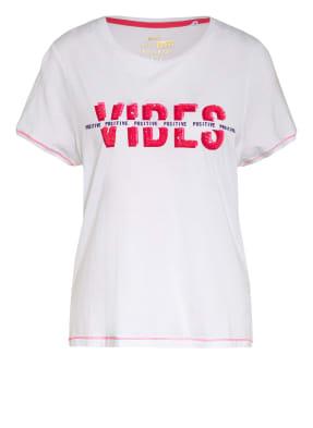 KEY LARGO T-Shirt FLOOR mit Paillettenbesatz