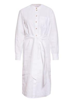 oui Kleid im Materialmix mit Leinen