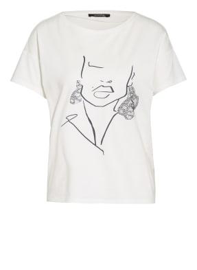 comma T-Shirt mit Schmucksteinbesatz