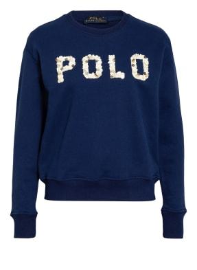 POLO RALPH LAUREN Sweatshirt mit Perlen- und Muschelbesatz