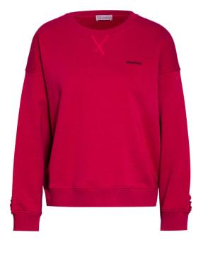 RED VALENTINO Sweatshirt mit Rüschenbesatz