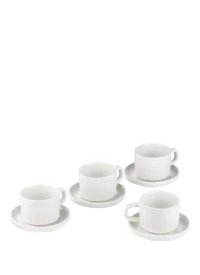 Marc O'Polo 4er-Set Espressotassen MOMENTS mit Untertasse
