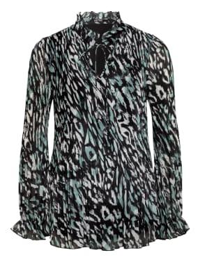 MARC AUREL Plissee-Blusenshirt mit Rüschenbesatz