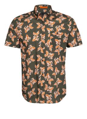 TED BAKER Kurzarm-Hemd POKEE Slim Fit mit Leinen