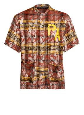 Palm Angels Kurzarm-Hemd Comfort Fit mit Stehkragen