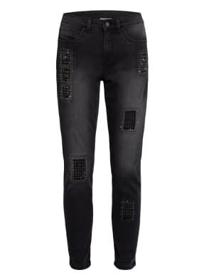 Joseph Ribkoff Destroyed-Jeans mit Schmucksteinbesatz
