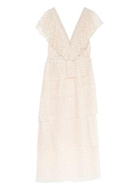 sandro Kleid mit Volantbesatz aus Tüll