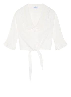 CLAUDIE PIERLOT Cropped-Bluse aus Lochspitze