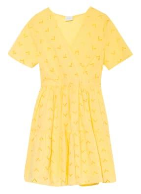 VILA Kleid VISILJE mit Lochstickereien