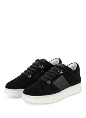 JIMMY CHOO Plateau-Sneaker HAWAII mit Schmucksteinbesatz
