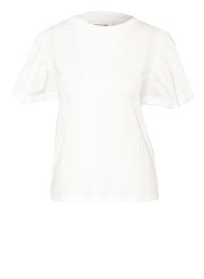 SECOND FEMALE T-Shirt FILIPPA mit Lochspitze