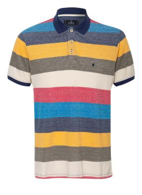 RAGMAN Piqué-Poloshirt Slim Fit mit Leinen