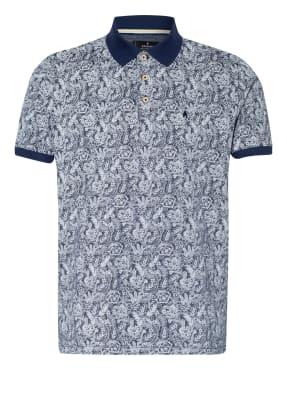 RAGMAN Piqué-Poloshirt mit Leinen