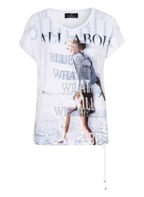 monari T-Shirt mit Schmucksteinbesatz
