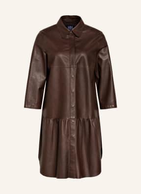 RIANI Hemdblusenkleid aus Leder