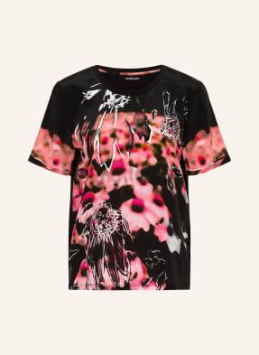 MARC CAIN T-Shirt im Materialmix