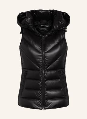 Calvin Klein Lightweight-Daunenweste mit abnehmbarer Kapuze