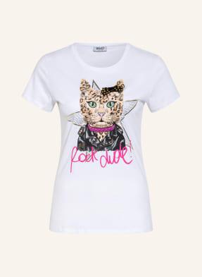 LIU JO T-Shirt mit Nieten- und Schmucksteinbesatz