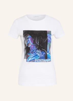 PATRIZIA PEPE T-Shirt mit Schmucksteinbesatz