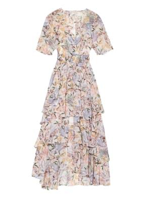 maje Kleid RUFFLE WHITE JUNGLE