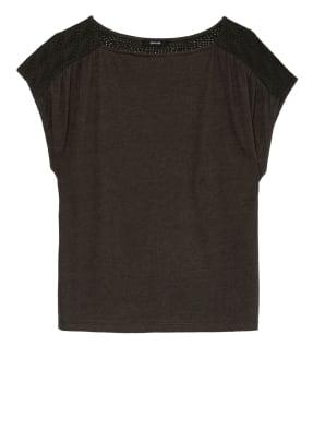 OPUS T-Shirt SEYMONA mit Leinen im Materialmix
