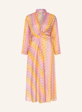 sandro Kleid mit Leinen und Seide