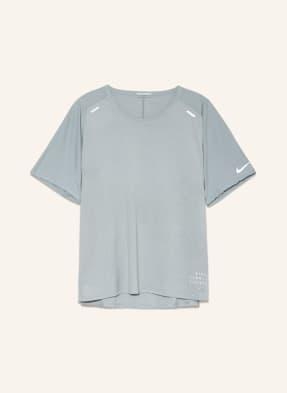 Nike Laufshirt TECHKNIT ULTRA RUN DIVISION mit Mesh-Einsätzen