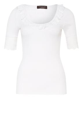 rosemunde T-Shirt aus Seide mit Spitzenbesatz