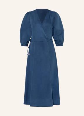 summum woman Wickelkleid in Jeansoptik