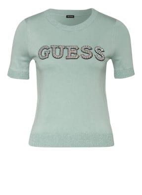GUESS T-Shirt CLARISSE mit Schmucksteinbesatz