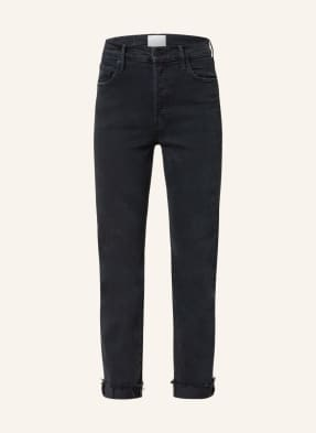 MOTHER Straight Jeans THE SCRAPPER CUFF ANKLE FRAY