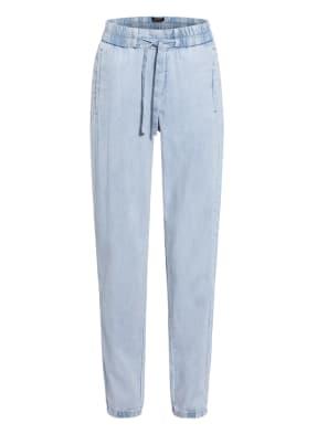 comma Hose im Jogging-Stil in Jeans-Optik