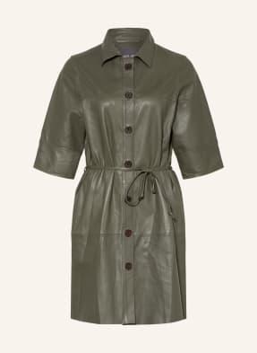 MOS MOSH Hemdblusenkleid BEATRICE aus Leder