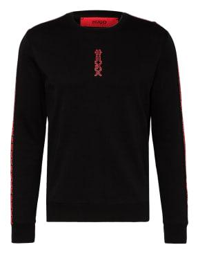HUGO Sweatshirt DOBY mit Galonstreifen