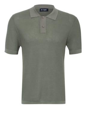 HACKETT LONDON Strick-Poloshirt mit Seide Slim Fit