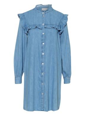 Mrs & HUGS Jeanskleid mit Rüschenbesatz