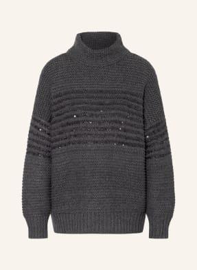 BRUNELLO CUCINELLI Pullover mit Cashmere und Paillettenbesatz