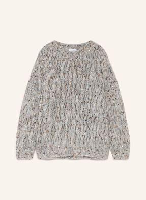 BRUNELLO CUCINELLI Oversized-Pullover mit Schmucksteinbesatz