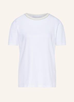 FABIANA FILIPPI T-Shirt mit Schmucksteinbesatz