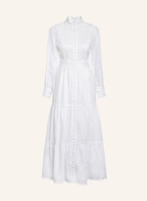 Mrs & HUGS Leinenkleid mit Spitzenbesatz