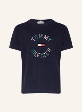 TOMMY HILFIGER T-Shirt mit Paillettenbesatz
