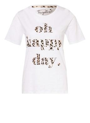 FrogBox T-Shirt mit Schmucksteinbesatz