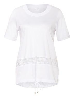 SPORTALM T-Shirt im Materialmix mit Schmucksteinbesatz