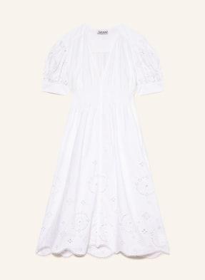 GANNI Kleid mit Lochspitze