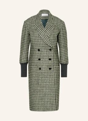 Chloé Tweed-Mantel im Materialmix