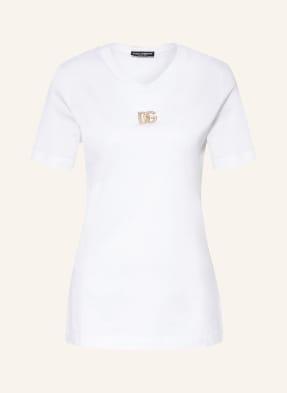 DOLCE&GABBANA T-Shirt mit Schmucksteinbesatz