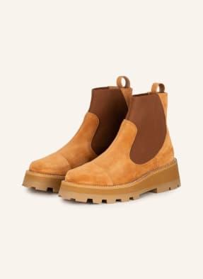 JIMMY CHOO Chelsea-Boots CLAYTON mit Schmucksteinbesatz