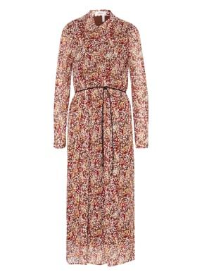 s.Oliver BLACK LABEL Hemdblusenkleid mit Rüschenbesatz